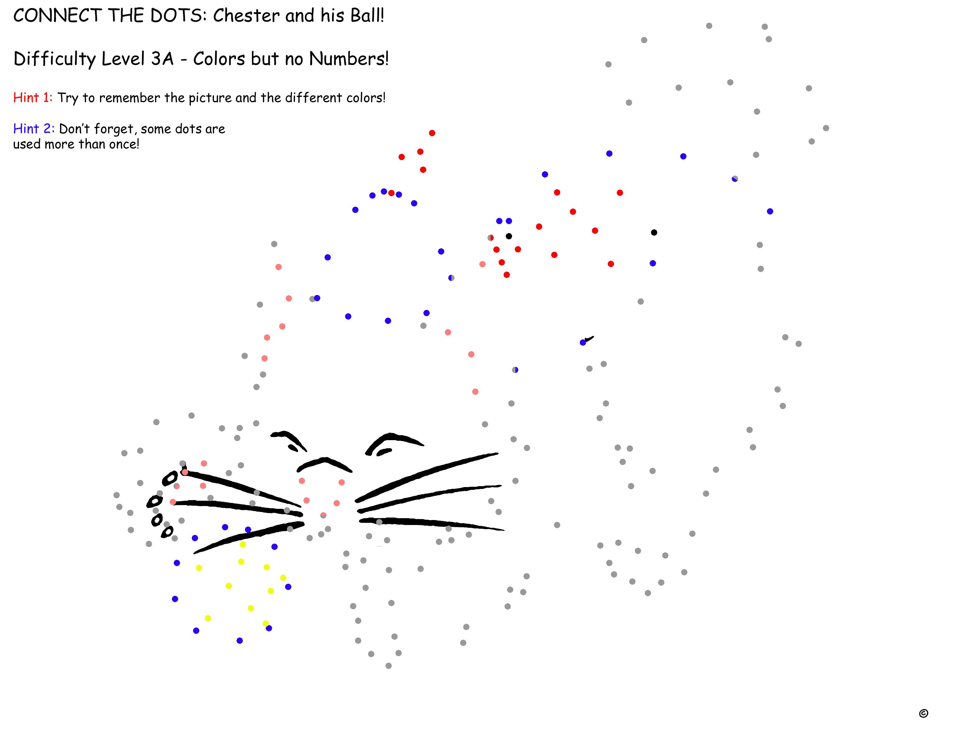 """Haz Click Aquí para Descargar la Página de """"Chester y su pelota"""" Nivel de Dificultad 3A"""