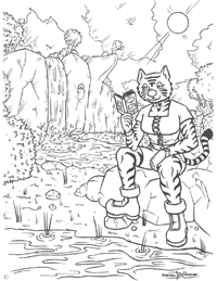 Click Here to Download the Konekomimi Reading Coloring Page!