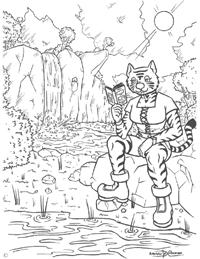 Haz Click Aquí ¡para Descargar la Página de lectura para Colorear de Konekomimi!