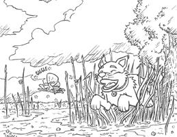 Haz Click Aquí ¡para Descargar la Página para colorear de el juego de persecución de Puppy Rayn con el hada!